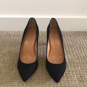 Suede jcrew black heels